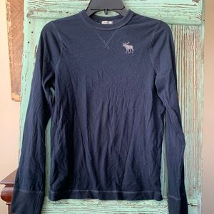 Boys navy Abercrombie & Fitch long sleeve top xl